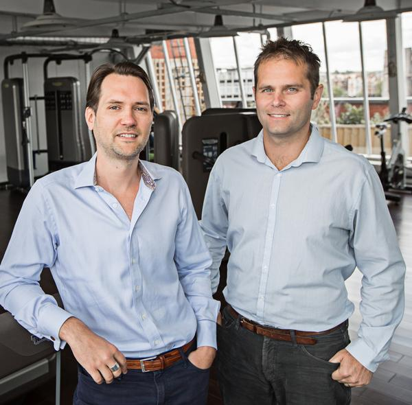 Hussle founders Jamie Ward (left) and Neil Harmsworth