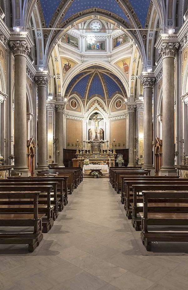 The interior of the church of Saint Bartholomew