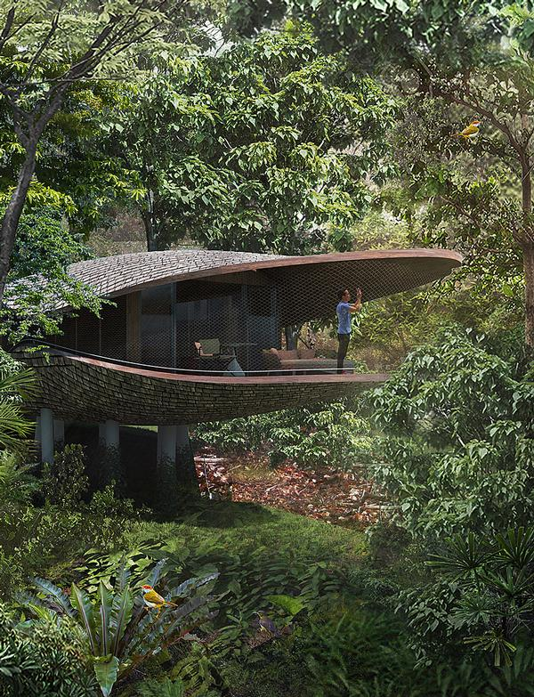 WOW Architects are designing an eco resort in Mandai, SIngapore featuring raised tree houses