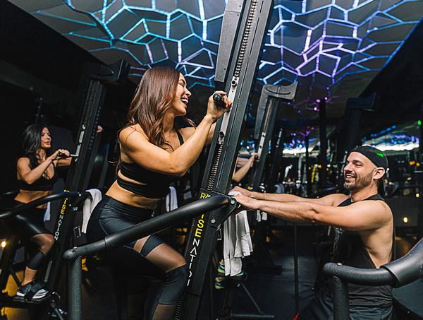 Celebrity trainer Jason Walsh has devised a 30 minute immersive Versaclimber workout for Rise Nation in West Hollywood
