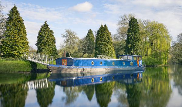The custom-built spa barge houses three treatment rooms