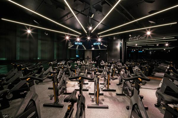 Technogym treadmills and bikes can be found in the Fusion room and Cycle studio