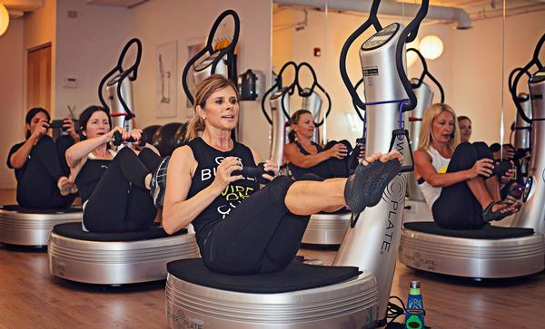 Power Plates can be used for group fitness in dedicated studios