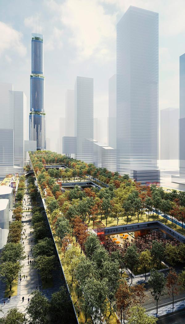 The Shenzhen Sky Garden will be built on existing reclaimed land