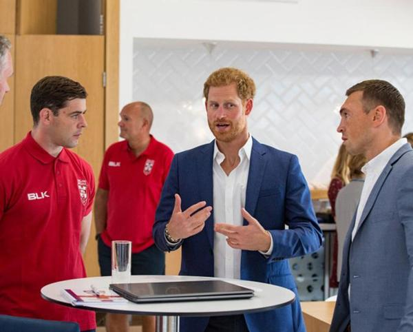 Prince Harry will continue to work with the RFL despite plans to step back as a 'senior' member of the Royal Family