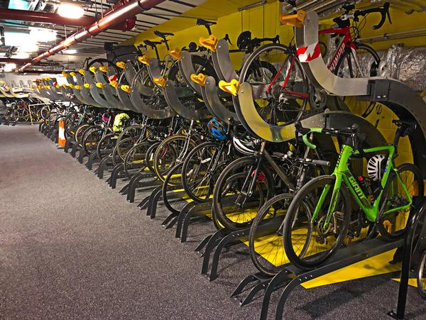 There's no car parking at Goldman Sachs' London offices, just 455 bike parking spaces