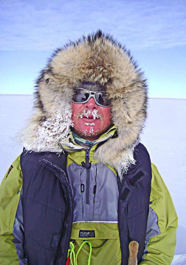 Chambers and his team suffered near starvation battling extreme polar weather conditions in 2000