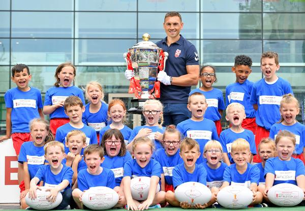 Ambassador Kevin Sinfield launched the Facilities Legacy Programme in Wigan