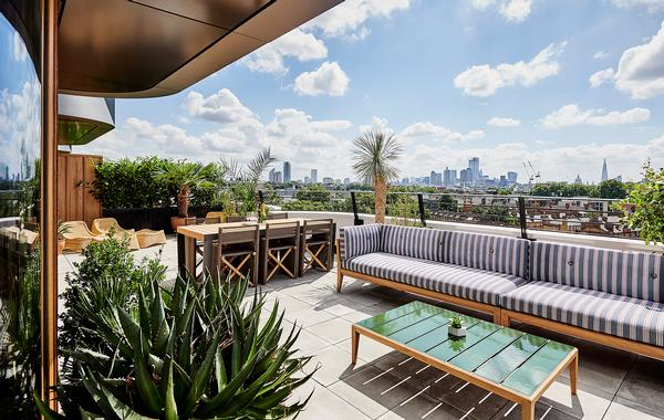 The eighth floor Suite Terrace is inspired by 'Californian cool'