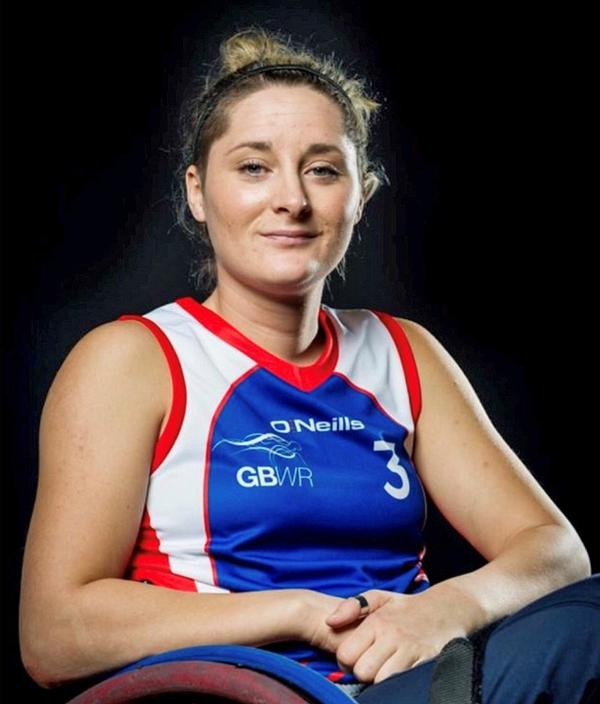 Kylie Grimes is the only woman on the GB Wheelchair Rugby team