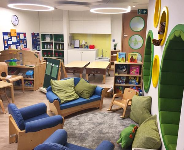 The children's centre is the first of its kind in a corporate setting in London.
