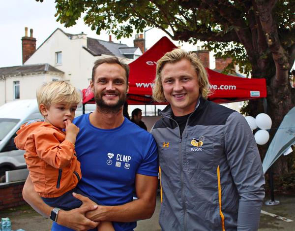 Wigan Wasps' Tommy Taylor (right), with Ollie Lawton at the Clarendon Lodge open day