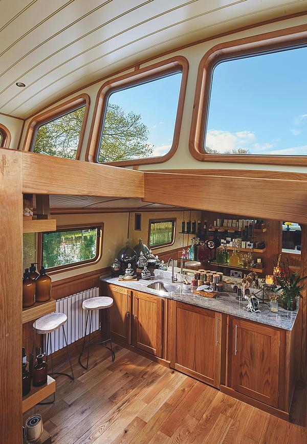 The custom-built spa barge