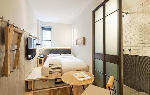 Moxy Times Square, where the focus is on attention to detail and the essential elements
