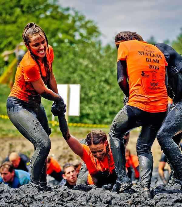 Unlike standard running events, OCR events rely on teamwork to complete