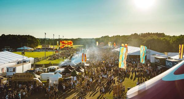 The 65 acre festival site features 12 themed arenas hosting 40 live bands and DJs