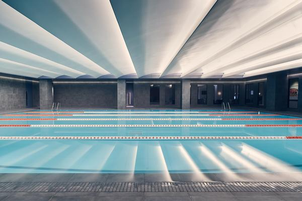 The main pool at Third Space Islington. The club also has a children's pool to enable adults and younger members to enjoy their own spaces
