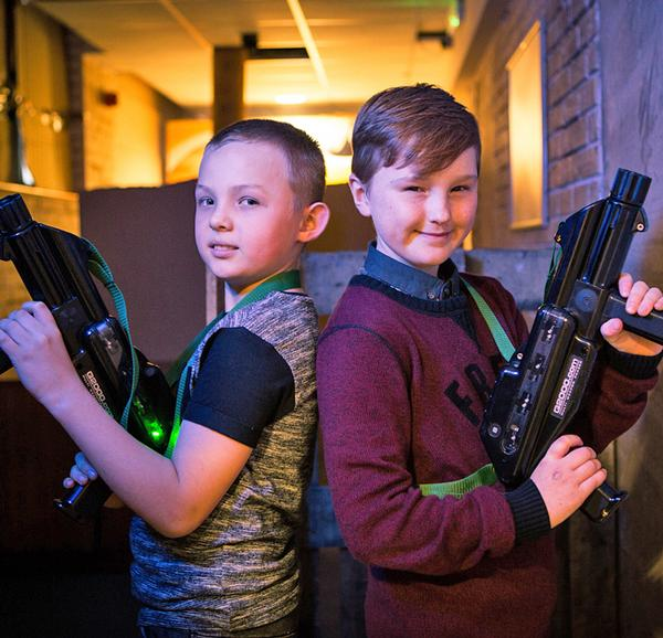 Some disused changing rooms have been converted to laser tag