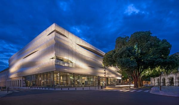 The dramatic-looking Musée de la Romanité opened in June in Nîmes, France