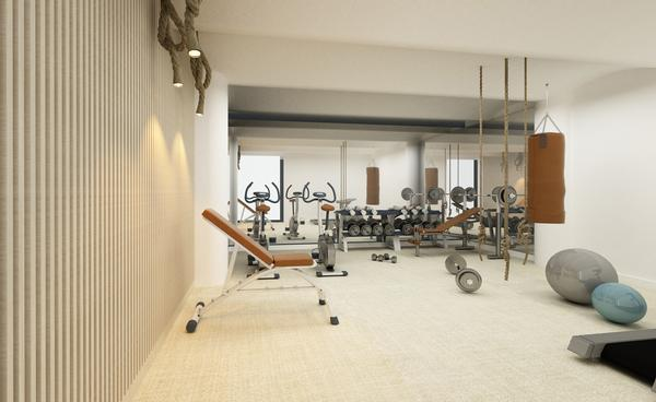 The Well includes a private training gym in its offering