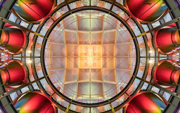 Arranged over a series of five cells, the roof reflects the component parts of the Macallan Distillery