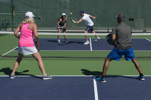 Consider adding new amenities to your club, such as a pickleball court / shutterstock