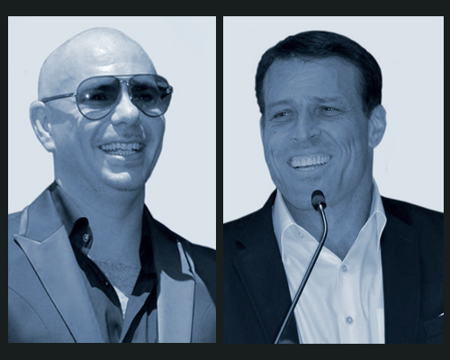 Pitbull and Tony Robbins