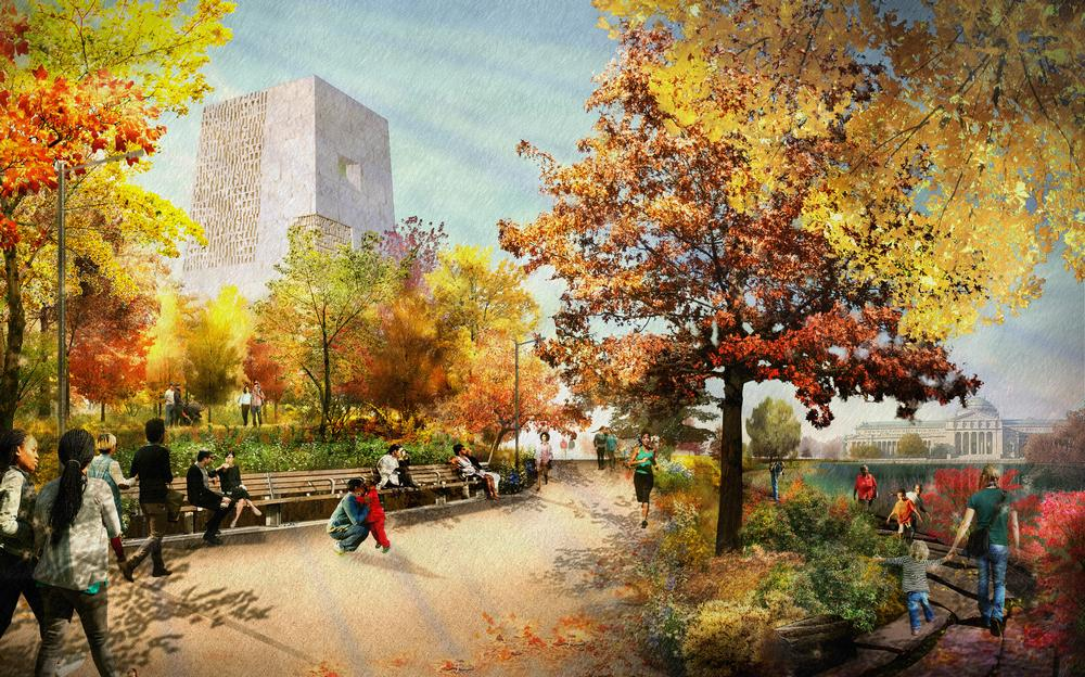 The OPC features a range of community outdoor spaces / Image: The Obama Foundation