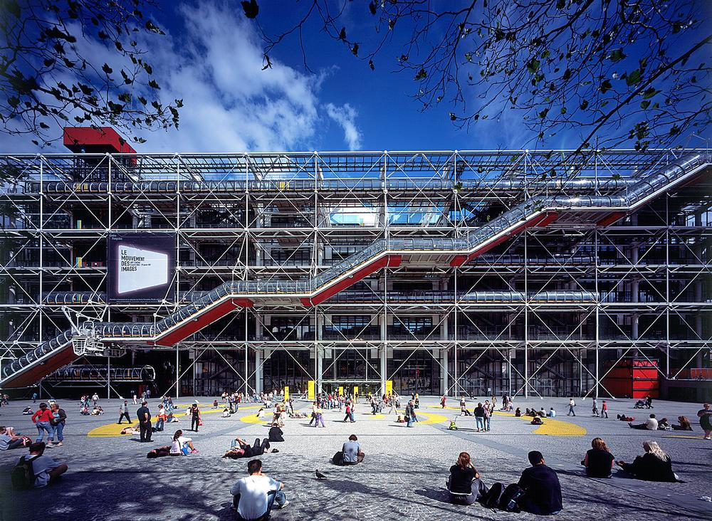 The Pompidou Centre opened in Paris in 1977