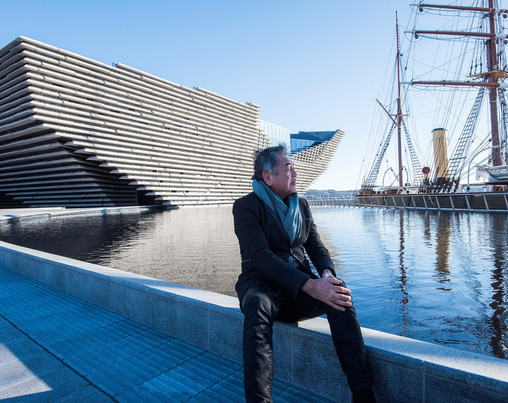 Kuma won the competition to design the V&A's Dundee outpost in 2010