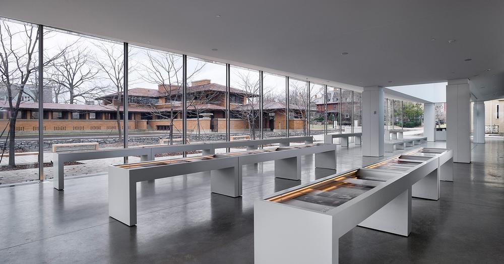 Mori's design for the airy visitor centre of Frank Lloyd Wright's Darwin D. Martin House in Buffalo, New York / Photo: Darwin Martin ©Paul Warchol