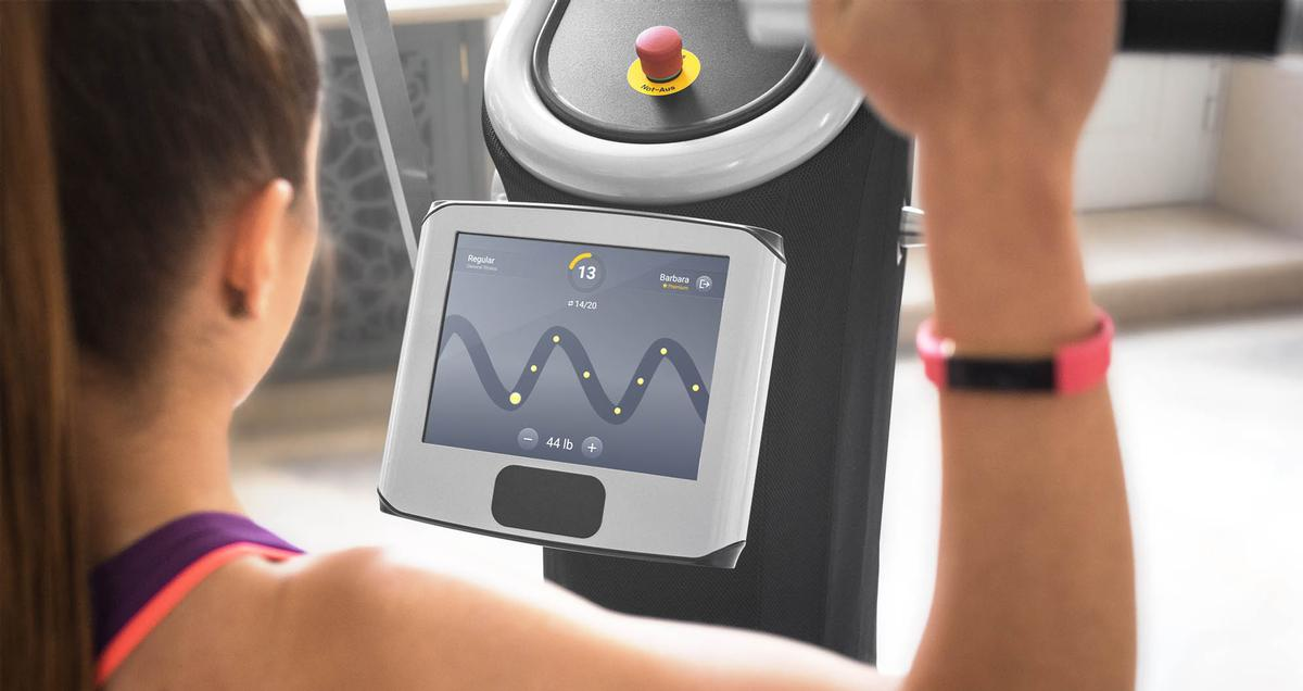 eGym's products include fully electronic strength machines, eGym mobile Apps, and eGym ONE, an open cloud platform