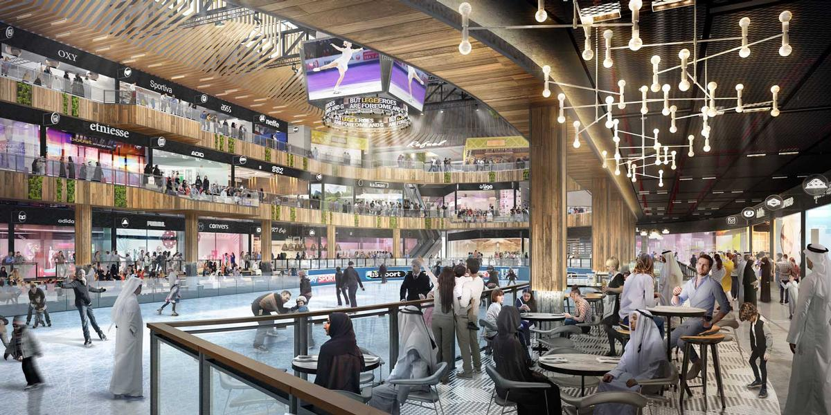 The complex will feature a wellness clinic, spa, martial arts dojo, climbing wall, ice skating rink, and edutainment centre. / Courtesy of Viva City/Sports Society