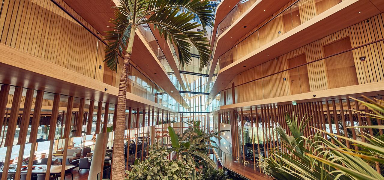 Hotel Jakarta, winner of the Hotels category, features an extensive subtropical garden. / Courtesy of SeARCH Architecture
