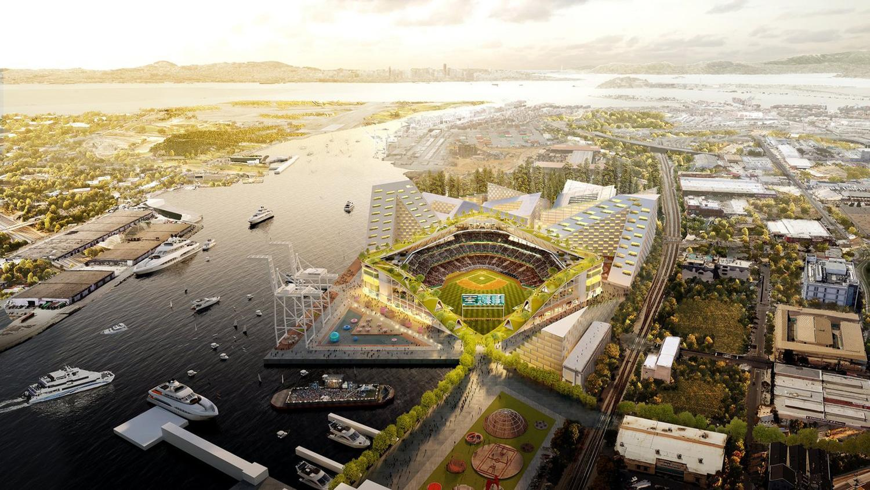 Bjarke Ingels reveals designs for Oakland's new 'intimate' baseball stadium