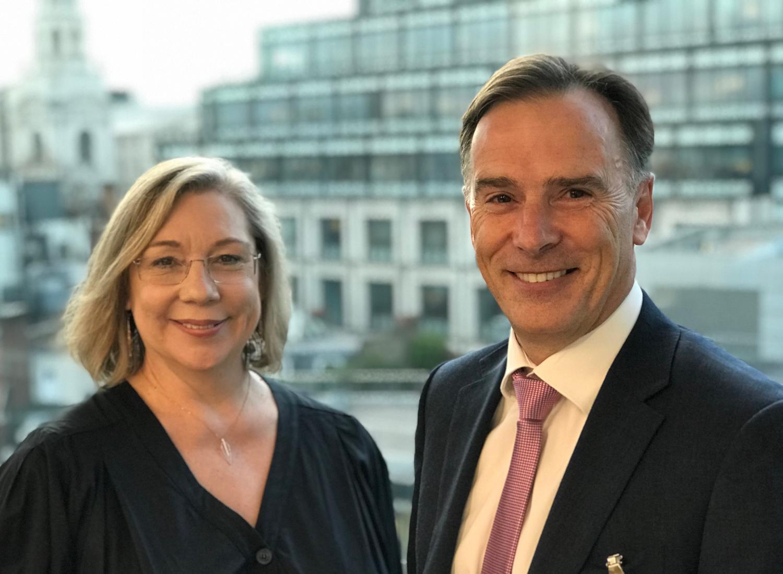Jennie Price (left) with David Portas, managing partner of Portas Consulting