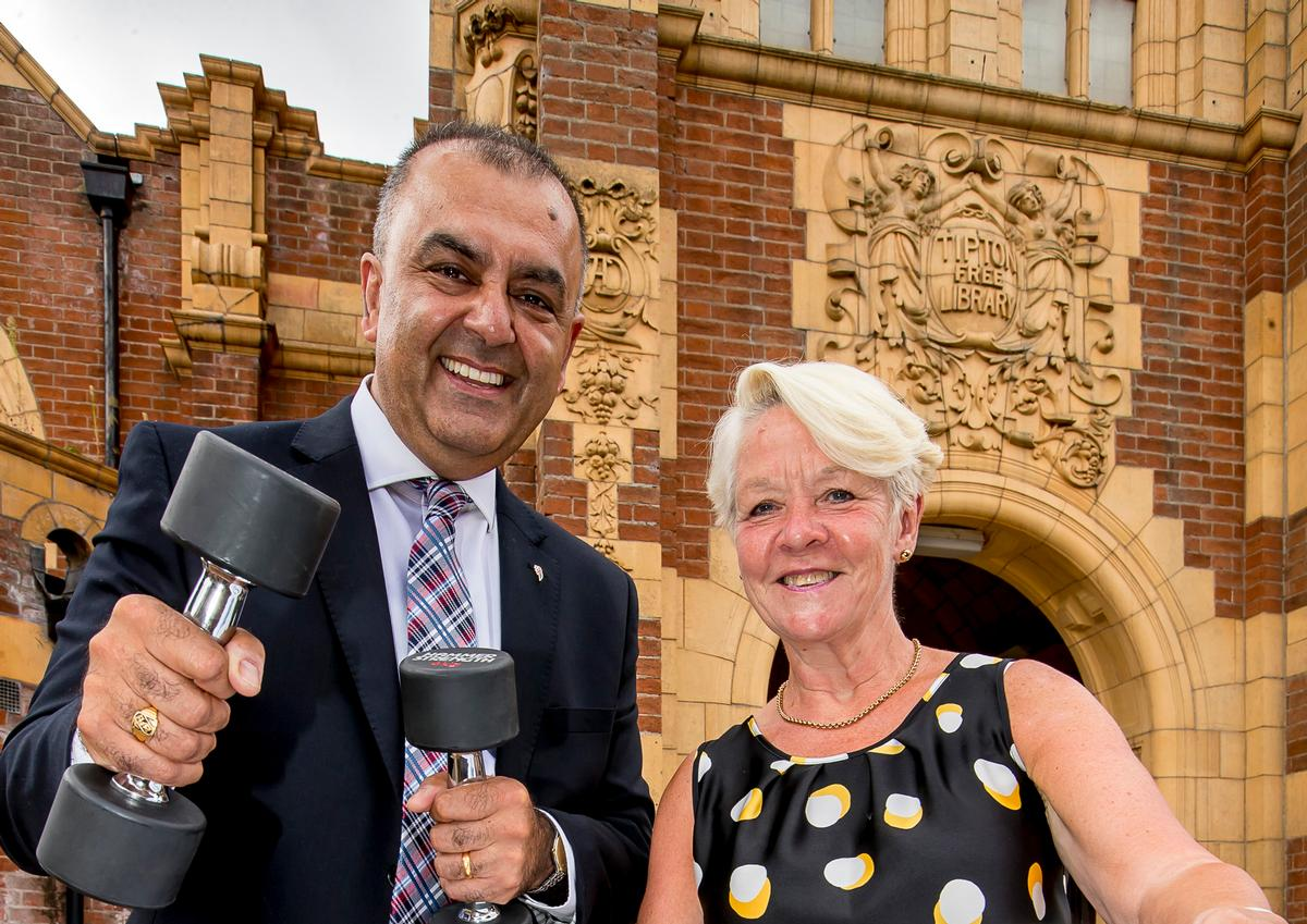 SLT chief exec Ash Rai (left) with chair Lynda Bateman