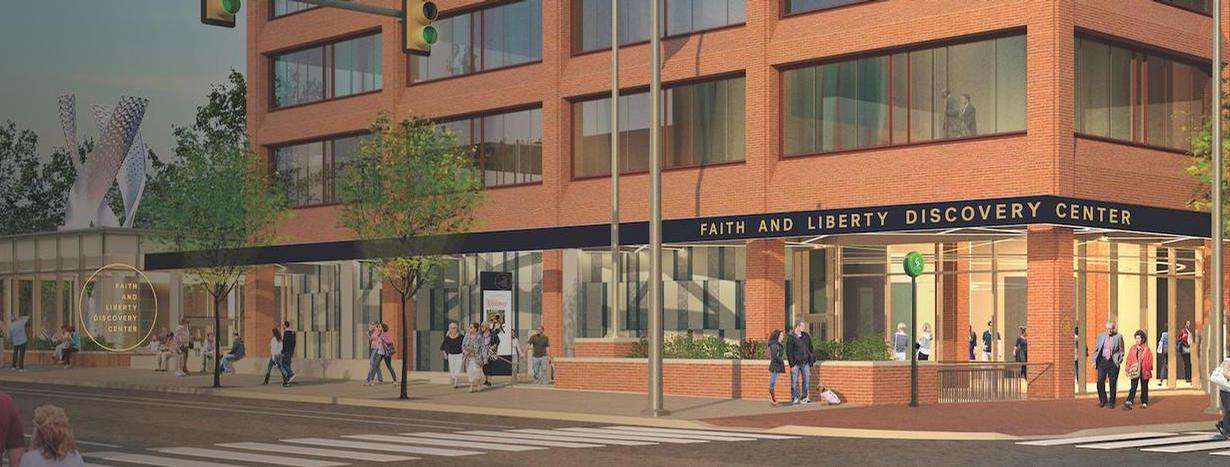 The Faith and Liberty Discover Centre in Philadelphia, US will aim to draw a link between the city, the founding of the US, the modern day country and the Holy Bible