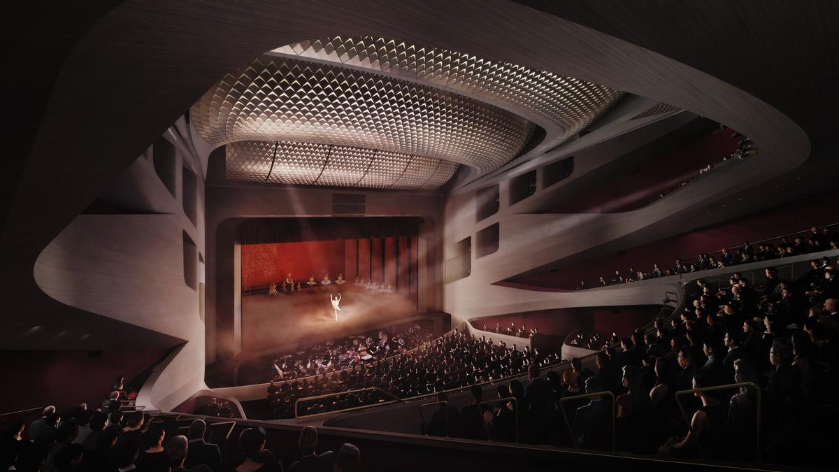 In a statement, the West Kowloon District Authority said the complex will 'serve as an exploration, development, and collaboration hub for dance companies and artists in Hong Kong'. / Courtesy of UNStudio