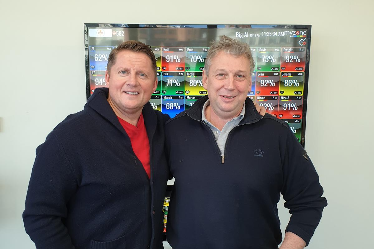 Stalker (right) will work closely with Myzone founder and group CEO Dave Wright (left)