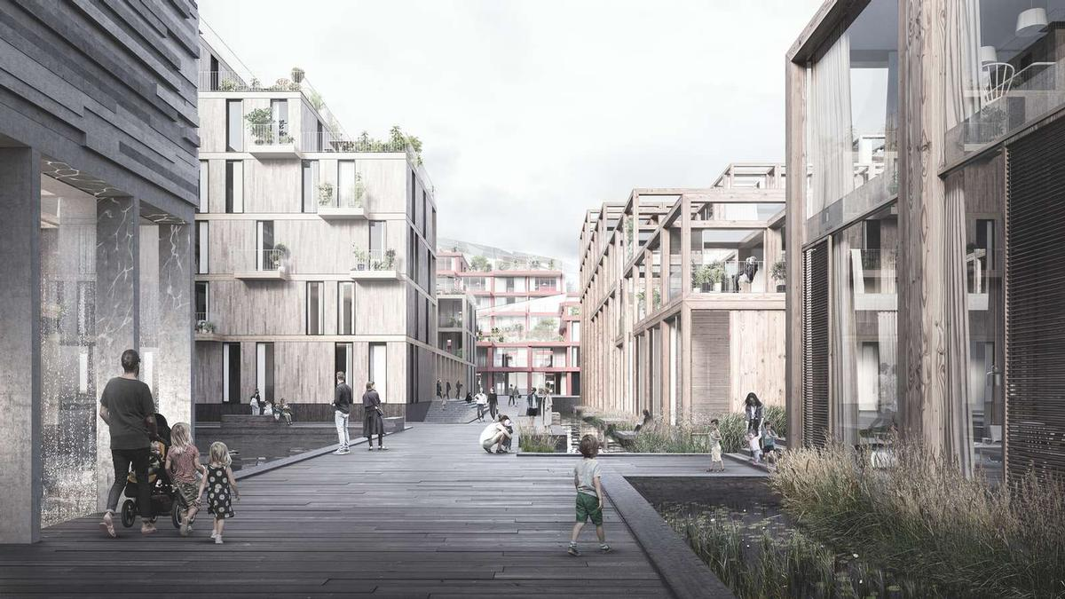 Anders Lendager said: 'We wanted to create not only an iconic and sustainable building from recycled materials but also the opportunity for a sustainable lifestyle.' / Courtesy of Lendager Group/ Image by TMRW