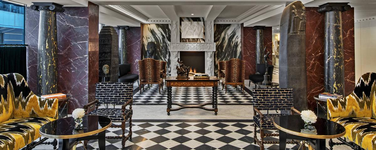A number of spaces, such as the lobby, take inspiration from French neoclassicism. / Courtesy of Marriott International