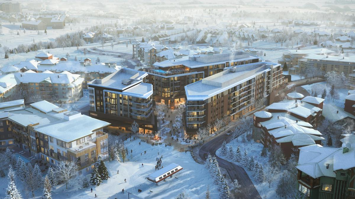 SB Architects, the firm behind the project's design, said they wanted to create a nontraditional mountain retreat. / Courtesy of Pendry Hotels
