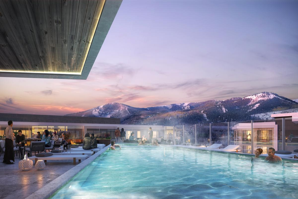 Pendry Park City Residences will feature multiple leisure amenities, such as a rooftop bar, pool, and spa. / Courtesy of Pendry Hotels