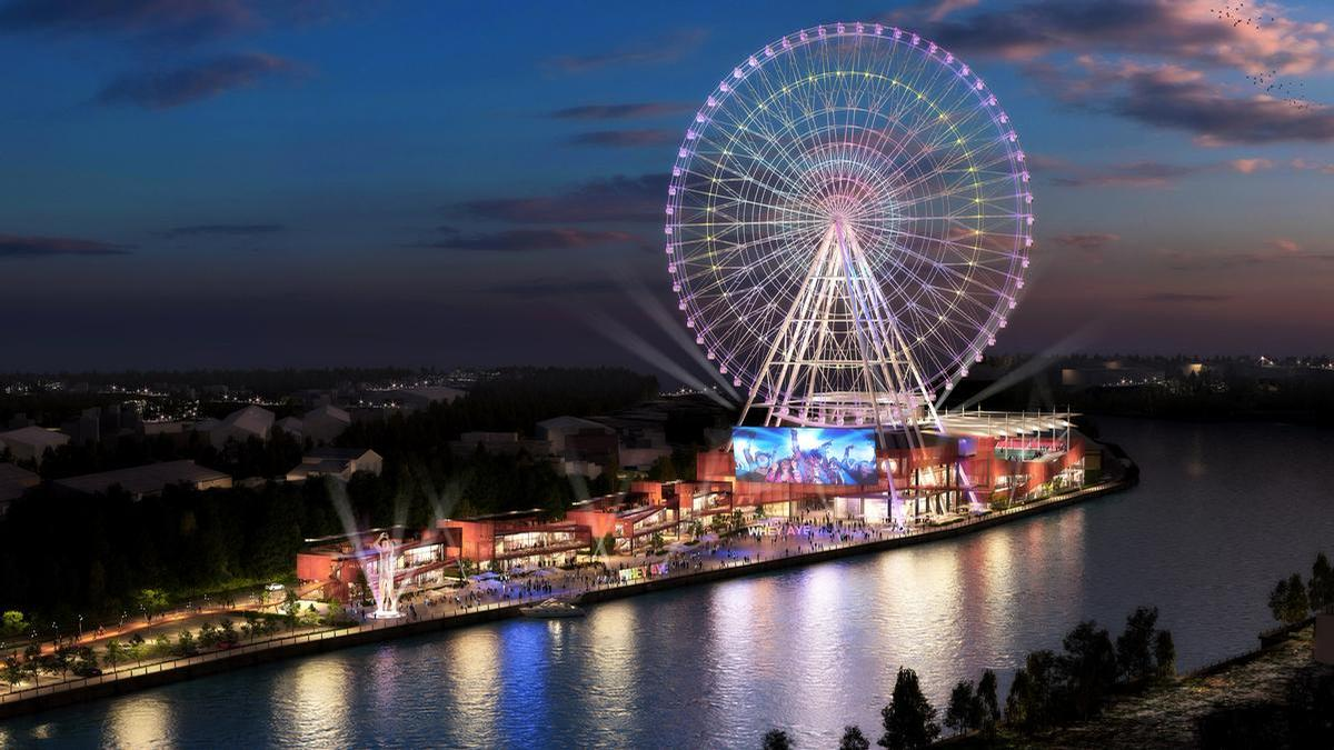 Named after a phrase in the local dialect, the Whey Aye will pip its country rival the London Eye by five metres to the title of Europe's largest observation wheel