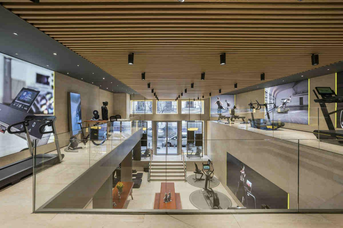 The shop is the third Technogym retail space to open in Spain / Courtesy of Technogym