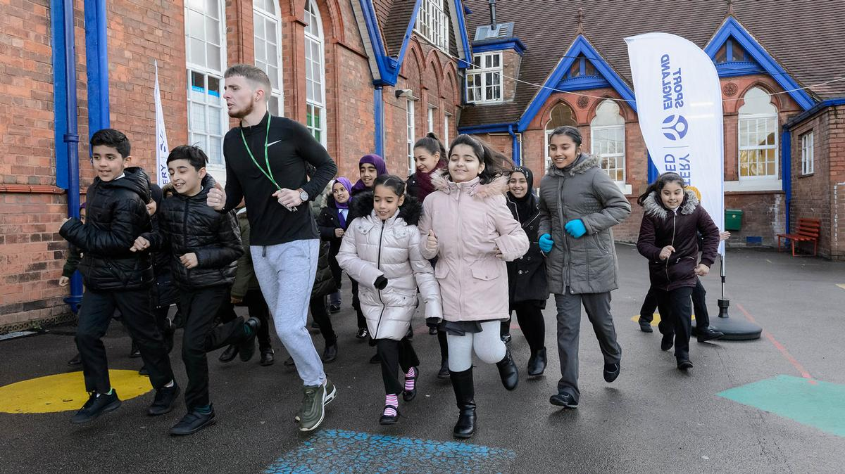 The Daily Mile concept gets kids active by enabling classes to head outside and jog or run around the school grounds every day