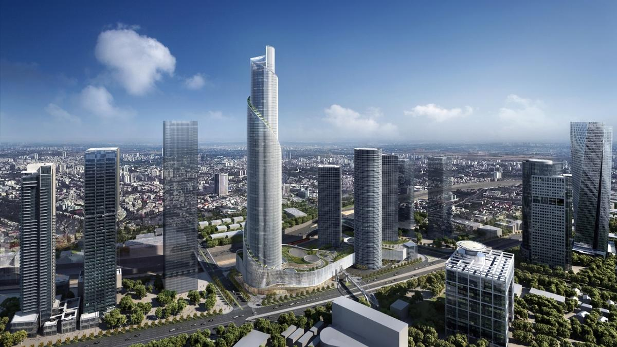 Visually, the Azrieli Tower can be compared to depictions of the Tower of Babel, a popular subject in European Renaissance art. / Courtesy of KPF