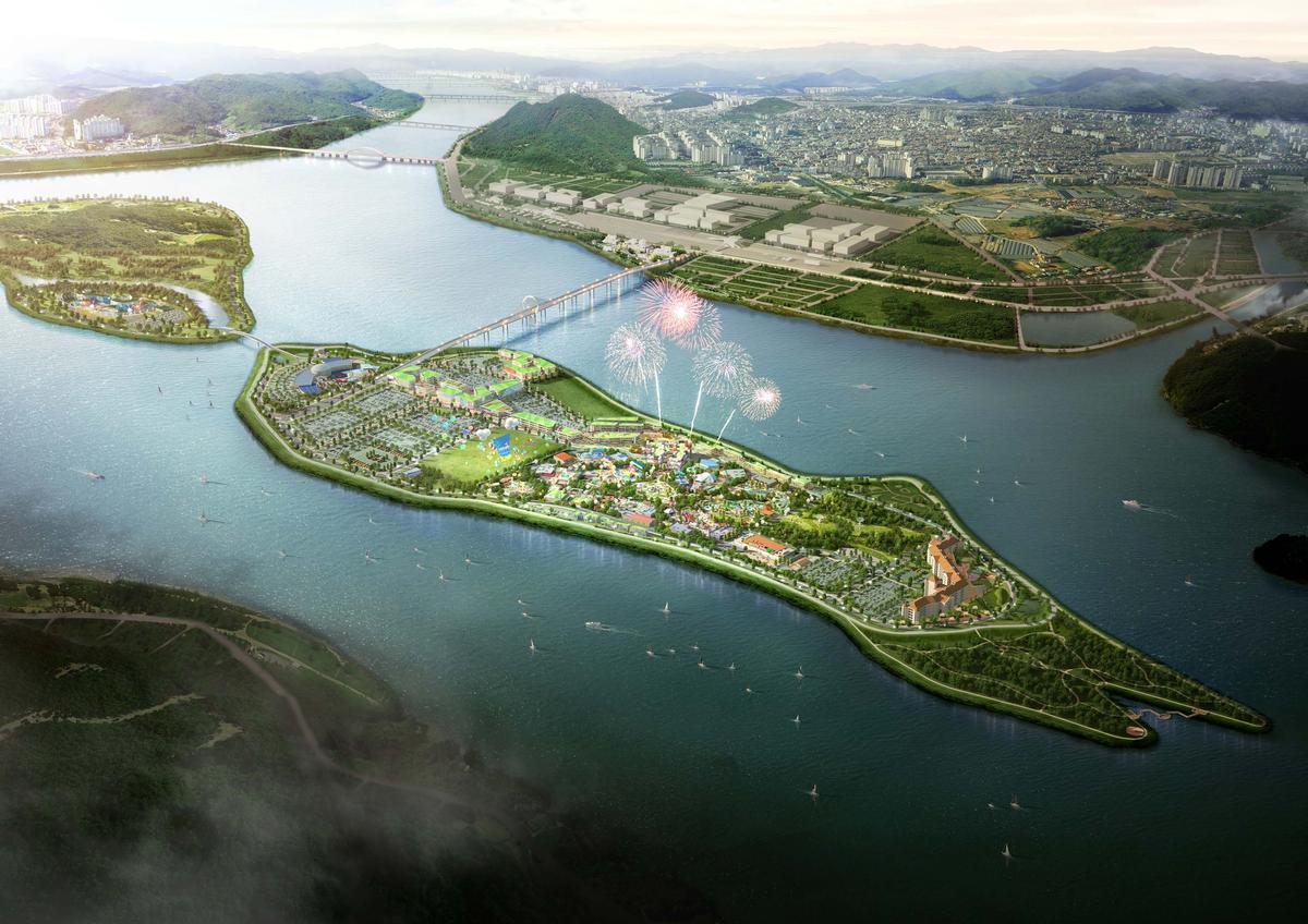 Legoland Korea will be situated on Hajungdo Island, Chuncheon, to the east of Seoul / Merlin Entertainments