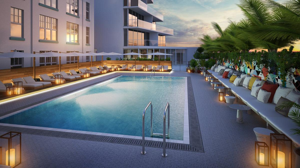 Navigate Group led the design for the hotel's swimming pool and terraces, patio strip along the beachfront, and restaurants. / Courtesy of The Celino Hotel